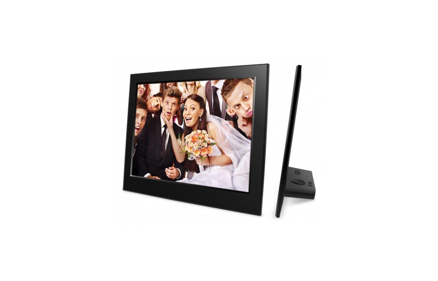 Цифровая фоторамка Digma 8 PF-840 800x600 черный пластик ПДУ Видео