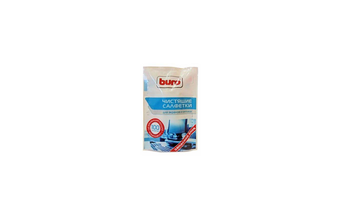 Чистящее средство BURO BU-Zscreen для экранов мониторов/плазменных/ЖК телевизоров/ноутбуков мягкая упаковка 100шт влаж