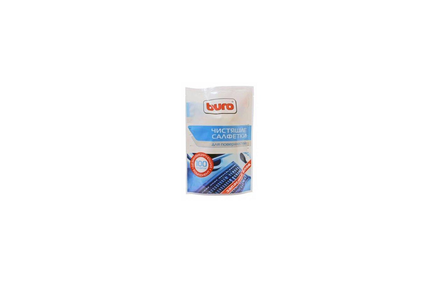 Чистящее средство BURO BU-Zsurface 100 шт для поверхностей мягкая упаковка 100шт влажных