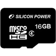 Карта памяти Silicon Power microSDHC 16Gb Class 4 (SP016GBSTH004V10)
