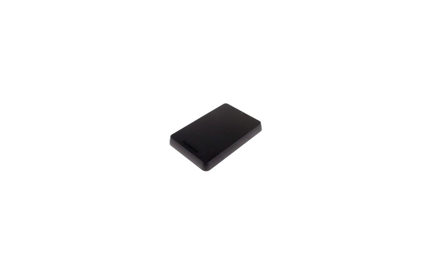 """Внешний жесткий диск Toshiba USB 3.0 1Tb HDTH310EK3AA Canvio Alu 2.5"""" черный"""