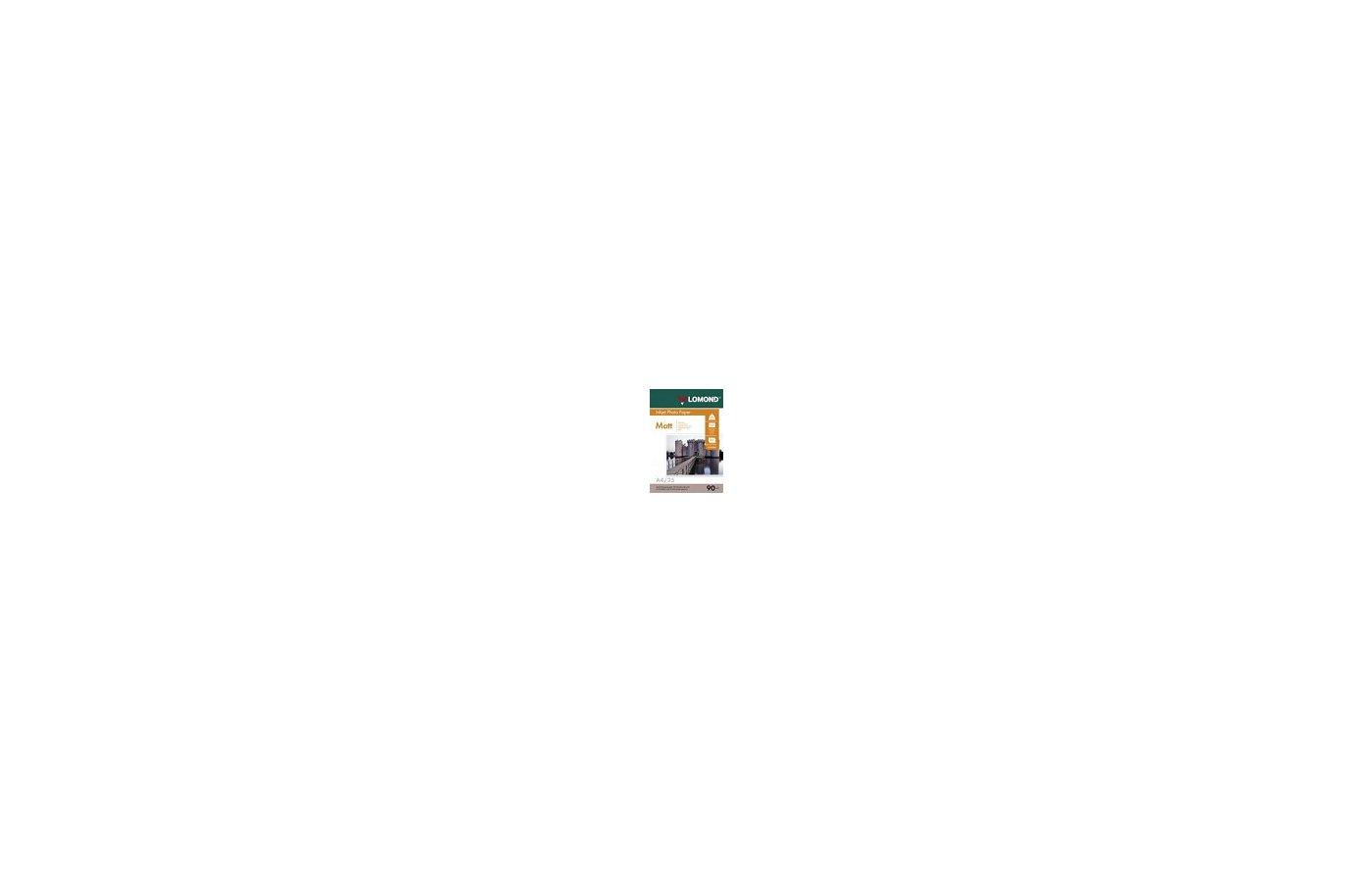 Фотобумага Lomond A4/90г/м2/25л./белый матовое самоклей. для струйной печати