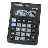 Калькулятор Citizen SDC-011S черный 8-разр. 2-е питание SQRT