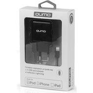 Фото Зарядное устройство QUMO СЗУ 2хUSB 2.4A + кабель Lightning MFI 8-pin для Apple