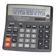 Калькулятор Citizen SDC-660II черный 16-разр. 2-е питание, 000, 00, TAX, mark up, GT, A023F