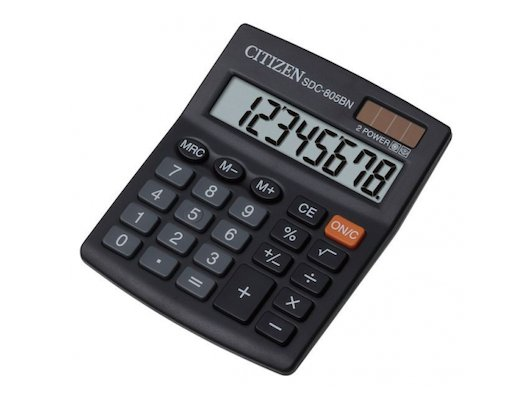 Калькулятор Citizen SDC-805BN черный 8-разр.