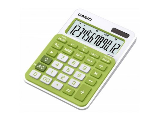 Калькулятор CASIO MS-20NC-GN-S-EC зеленый 12-разр.