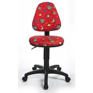 Бюрократ KD-4/R Кресло детское красный божьи коровки LB-Red