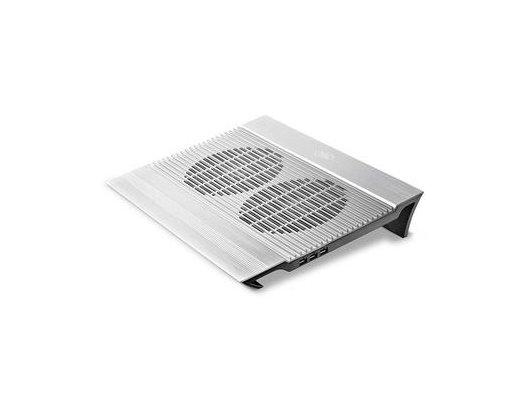 "Подставка для ноутбука Deepcool N8 17"" 380x278x55mm 25dB 4xUSB 1244g Silver aluminum"
