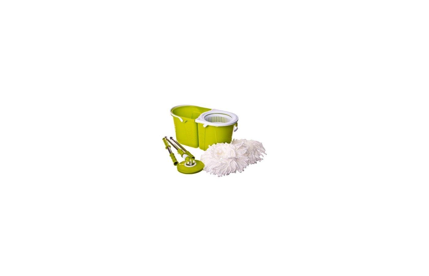 Инвентарь для уборки VETTA 407-007 Комплект для мытья полов МОП разборный 11л 2 насадки