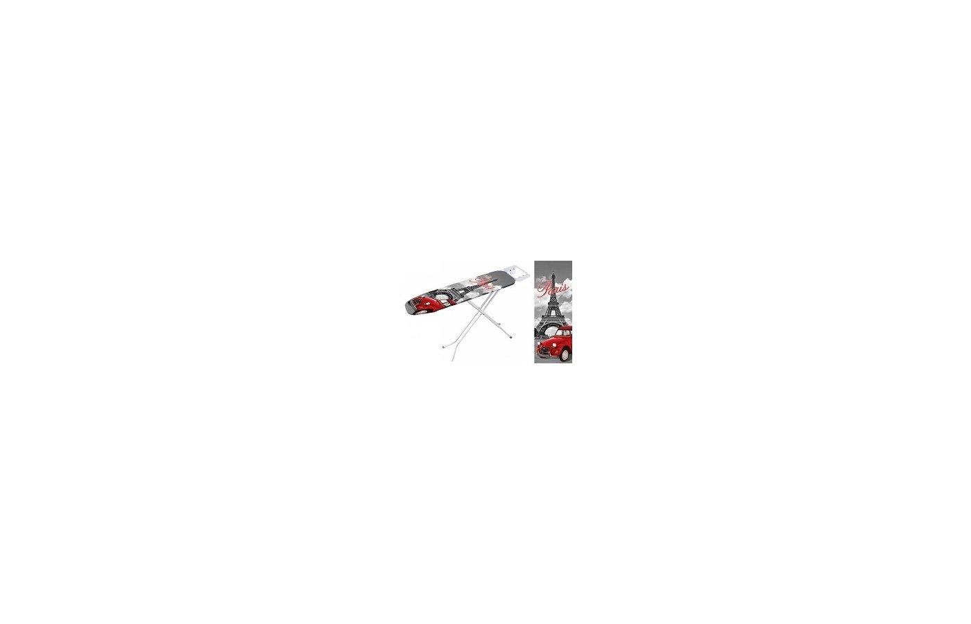 Чехлы и принадлежности для глажки VETTA 451-049 Чехол для гладильной доски хлопок 110x33см Эйфелева башня