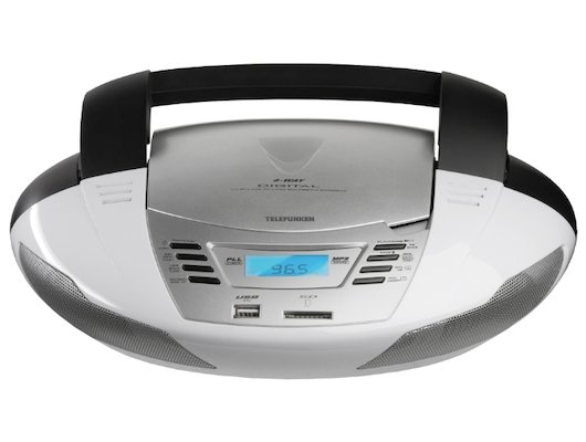 Магнитола Telefunken TF-CSRP3480 серебристый