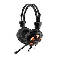Игровые наушники проводные A4Tech HS-28 (Orange Black)