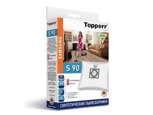 Пылесборники TOPPERR LUX 1419 S 90 Фильтр синтетический д/пылесоса SAMSUNG (Тип VP-95) 4 шт.в ед.