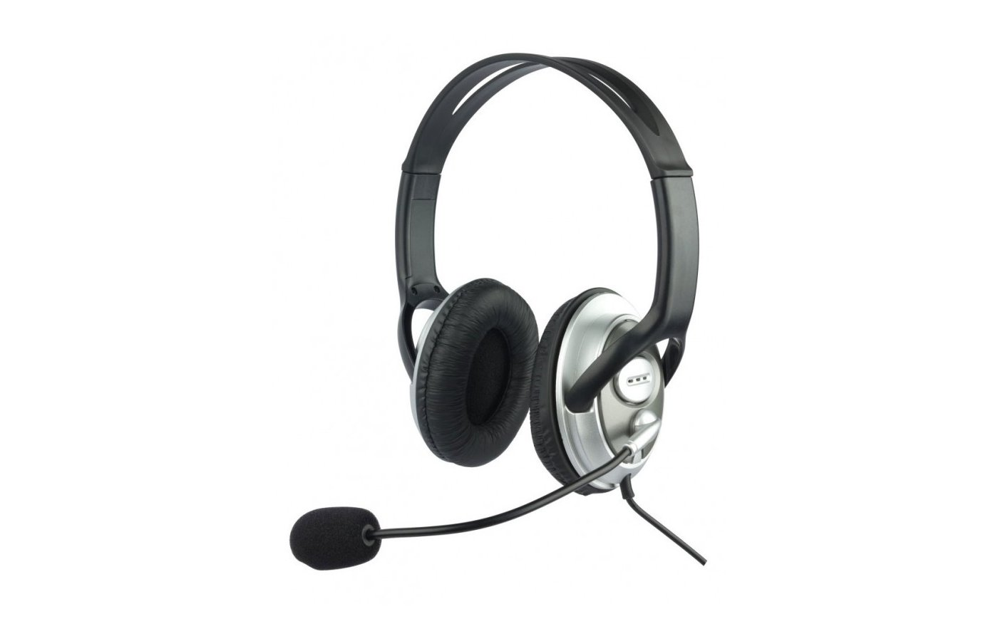 Наушники с микрофоном проводные Oklick HS-M131V Регулятор громкости