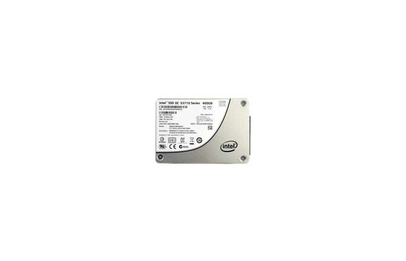 """SSD жесткий диск Intel Original SATA III 400Gb SSDSC2BA400G401 S3710 2.5"""""""