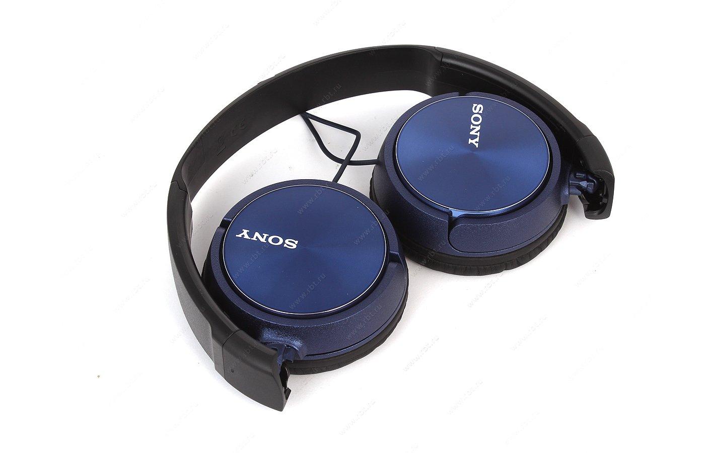 Наушники накладные  SONY MDR-ZX310AP синий