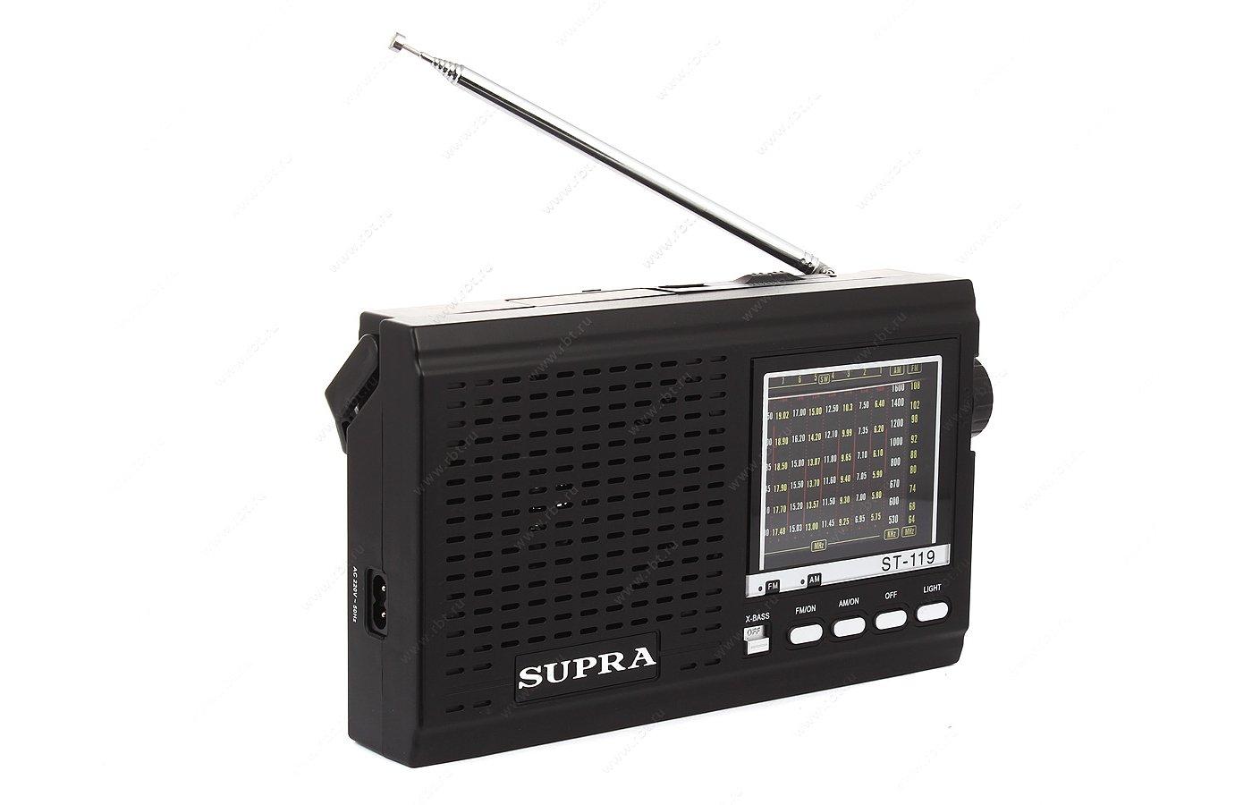 Радиоприемник SUPRA ST-110 black