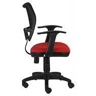 Фото Бюрократ CH-797AXSN/26-22 спинка сетка черный сиденье красный 26-22 подлокотники T-образные