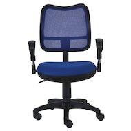 Фото Бюрократ CH-799/BL/TW-10 спинка сетка синий сиденье синий TW-10