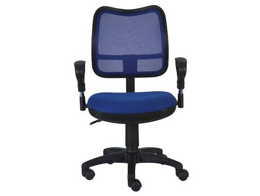 Бюрократ CH-799/BL/TW-10 спинка сетка синий сиденье синий TW-10