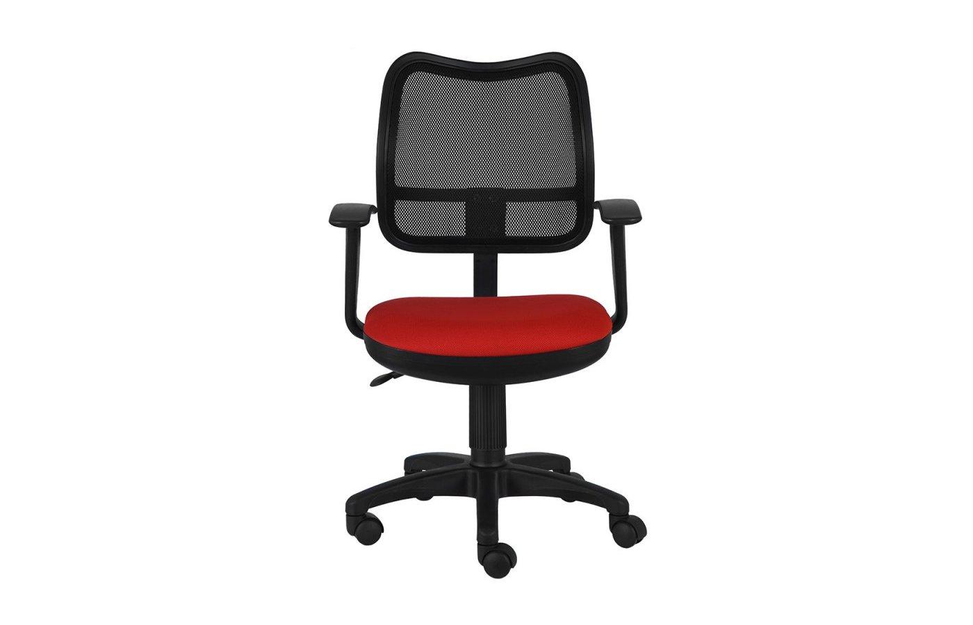Бюрократ CH-797AXSN/26-22 спинка сетка черный сиденье красный 26-22 подлокотники T-образные