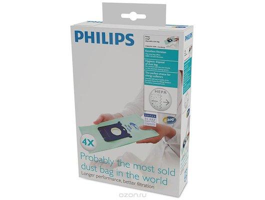 Пылесборники PHILIPS FC 8022/04 4 Антиаллергенных S-bag-мешка