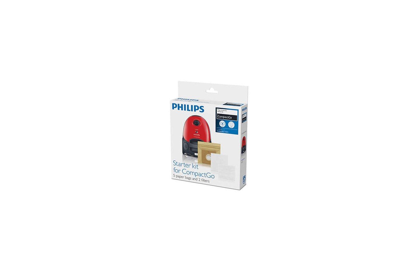 Фильтр для пылесоса PHILIPS FC 8018/01 Набор: Входящий + выпускной фильтры и 5 пылесборников