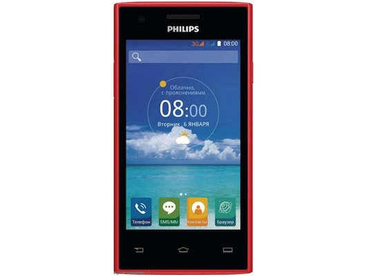 Смартфон PHILIPS S309 red