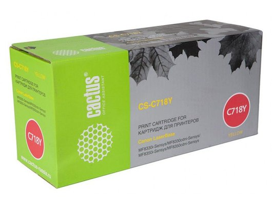 Картридж лазерный Cactus CS-C718Y