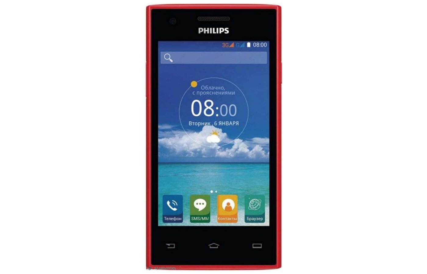 Смартфон PHILIPS S309 red