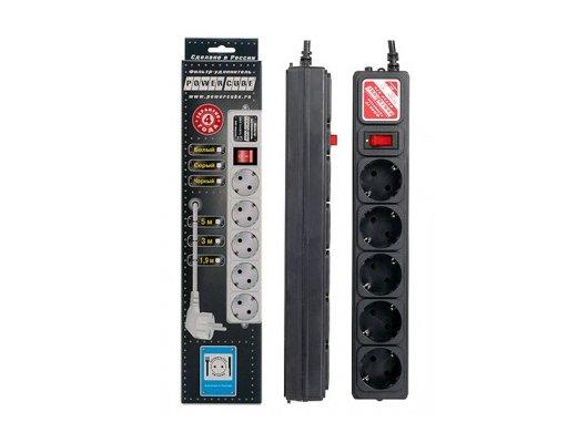 Сетевой фильтр Powercube SPG-B-15-BLACK 5роз./5м.