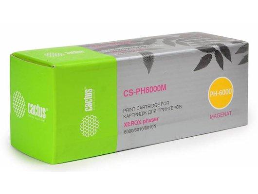 Картридж лазерный Cactus CS-PH6000M (106R01632) совместимый пурпурный для Xerox 6000/6010 (1000стр.)