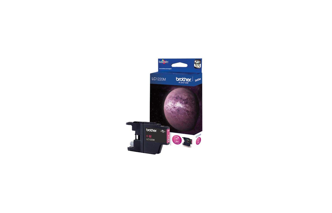 Картридж струйный Brother LC1220 пурпурный для DCP-J525W, MFC-J430W, MFC-J825DW (300 стр.)
