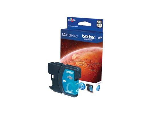 Картридж струйный Brother LC1100HY голубой повышенной ёмкости для DCP-6690CW (750 стр.)