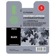 Фото Картридж струйный Cactus CS-PGI5BK совместимый черный для Canon Pixma MP470/ MP500/ MP520/ MP530 (23,6ml)