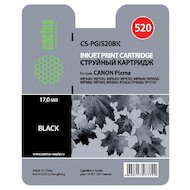Картридж струйный Cactus CS-PGI520BK совместимый черный для Canon Pixma MP540/ MP550/ MP620/ MP630 (16ml)