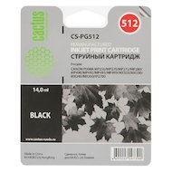 Картридж струйный Cactus CS-PG512 совместимый черный для Canon Pixma MP240/MP250/MP260 (14ml)