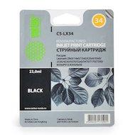 Картридж струйный Cactus CS-LX34 совместимый черный для Lexmark Z8x5/14x0/13x0 X25x0/33x0 (18ml)
