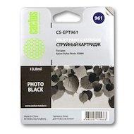 Картридж струйный Cactus CS-EPT961 совместимый фото черный для Epson Stylus Photo R2880 (13ml)