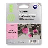 Картридж струйный Cactus CS-EPT346 совместимый светло-пурпурный для Epson Stylus Photo 2100 (14,6ml)