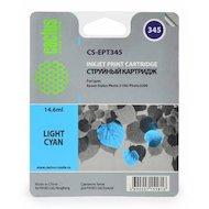 Картридж струйный Cactus CS-EPT345 совместимый светло-голубой для Epson Stylus Photo 2100 (14,6ml)