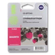 Картридж струйный Cactus CS-EPT343 совместимый пурпурный для Epson Stylus Photo 2100 (15,4ml)