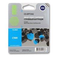 Картридж струйный Cactus CS-EPT342 совместимый голубой для Epson Stylus Photo 2100 (15,4ml)