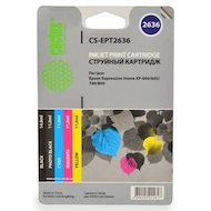 Картридж струйный Cactus CS-EPT2636 совместимый многоцветный для Epson Expression Home XP-600/605/700 Комплект 5 картр