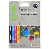 Картридж струйный Cactus CS-EPT1716 совместимый многоцветный для Epson Expression Home XP-33/103/203 Комплект картридж