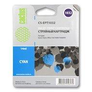 Картридж струйный Cactus CS-EPT1032 совместимый голубой для Epson Stylus Office T1100/TX510/TX510fn (14ml)