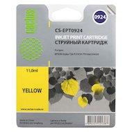 Картридж струйный Cactus CS-EPT0924 совместимый желтый для Epson Stylus C91/ CX4300/ T26/T27/TX106/TX109 (6,6ml)