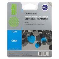 Картридж струйный Cactus CS-EPT0922 совместимый голубой для Epson Stylus C91/ CX4300/ T26/ T27/ TX106 (6,6ml)