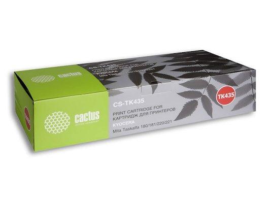 Картридж лазерный Cactus CS-TK435 совместимый для МФУ Kyocera Mita TASKalfa 180, черный, 15000 стр. (туба, 700 г.)